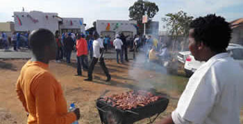Shisanyama time in Soweto